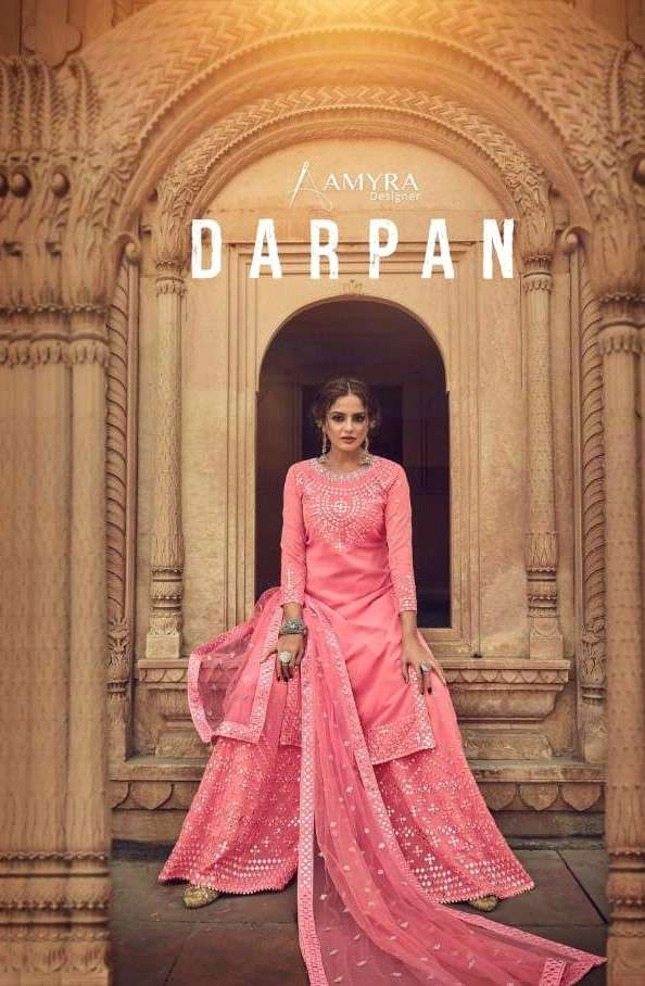 Amyra Designer Darpan Party Wear Sharara Suit latest Catalog online