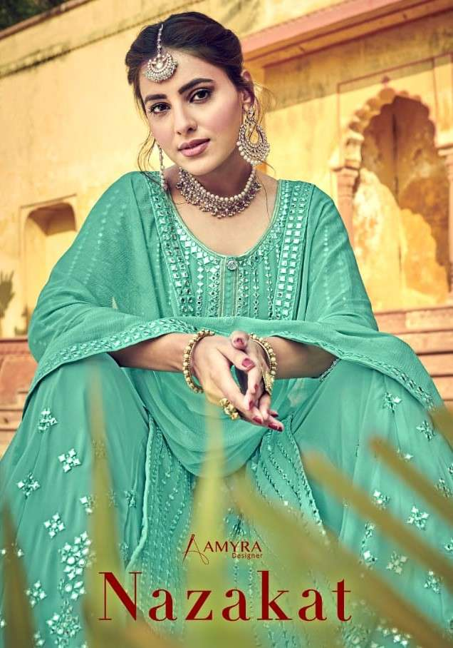 Amyra Designer Nazakat Designer Plazzo Style Salwar Kameez New Collection