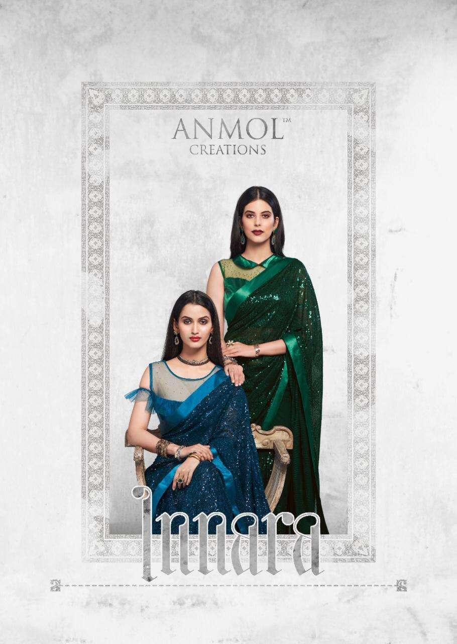 Anmol Innara Designer Party Wear georgette Saree Catalogs