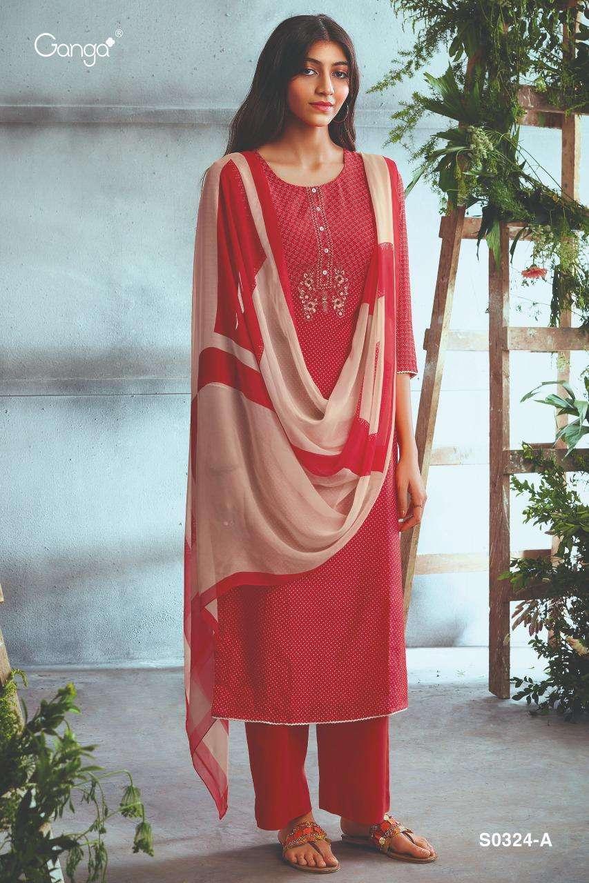 Ganga Chasni 324 Exclusive Designer Silk Salwar Suit Catalogs buy Online
