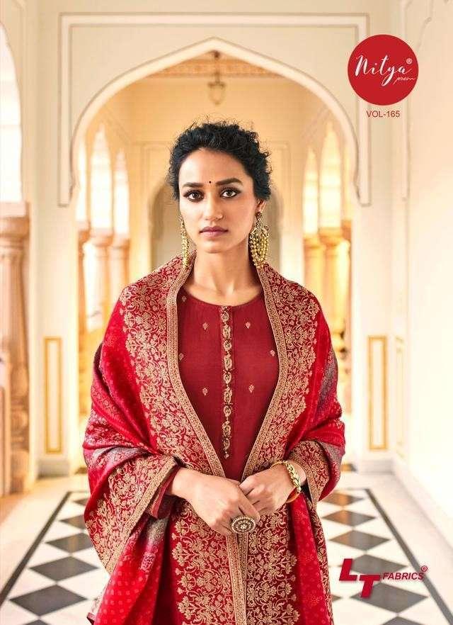 LT Fabrics Nitya Vol 165 Designer Dola Silk Salwar Suit Latest Designs