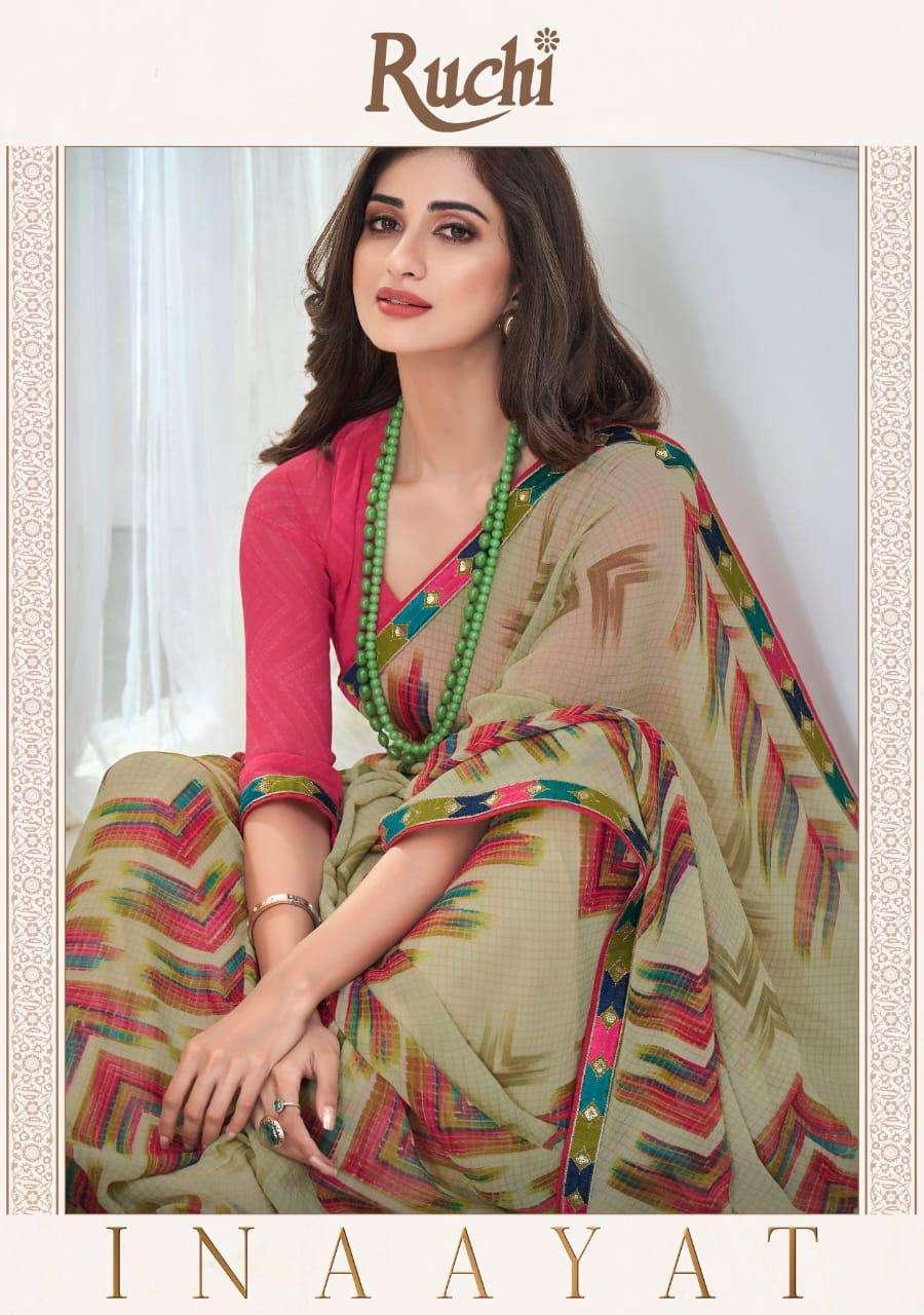 Ruchi Inaayat Printed Georgette Saree Supplier in Wholesale Price