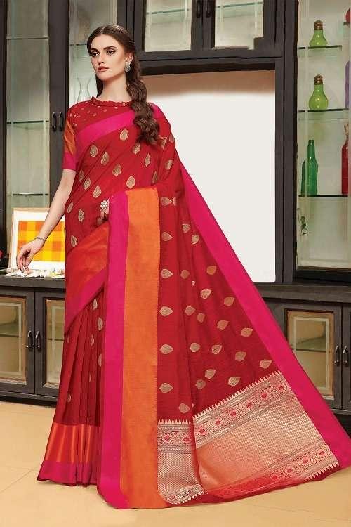 Sangam Banglori Handloom Linen Silk Saree Wholesale Price
