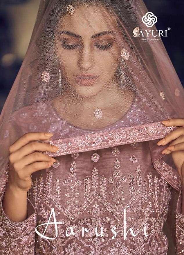 Sayuri Aarushi by Aashirwad Designer Work Anarkali Suit Catalogs