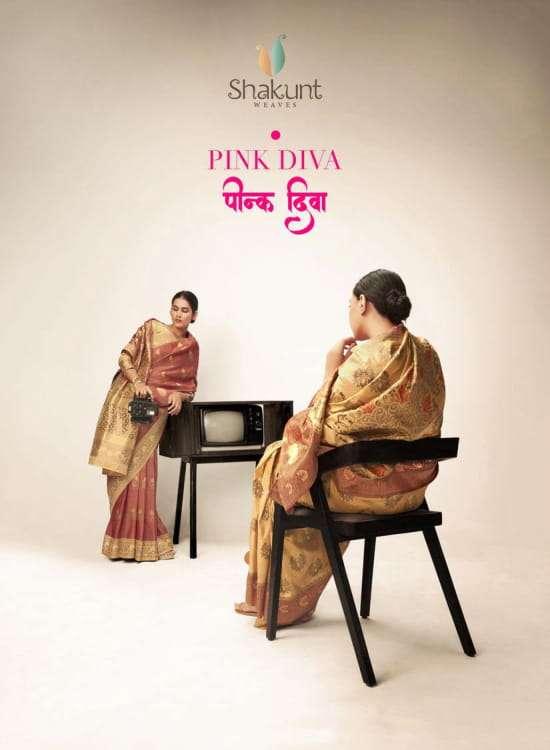 Shakunt Pink Diva Traditioanl Art Silk Saree Supplier
