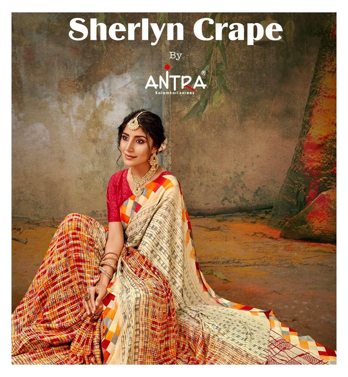 Antra Sherlyn Crape Printed Crape Saree New Catalog In Wholesale Price