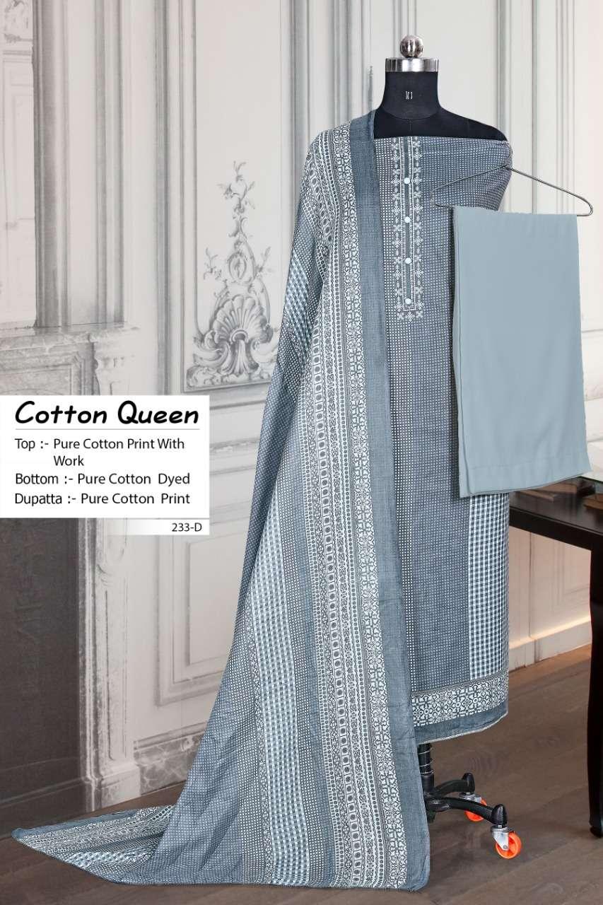 Bipson Cotton Queen 233 Cotton Suit Wholesaler