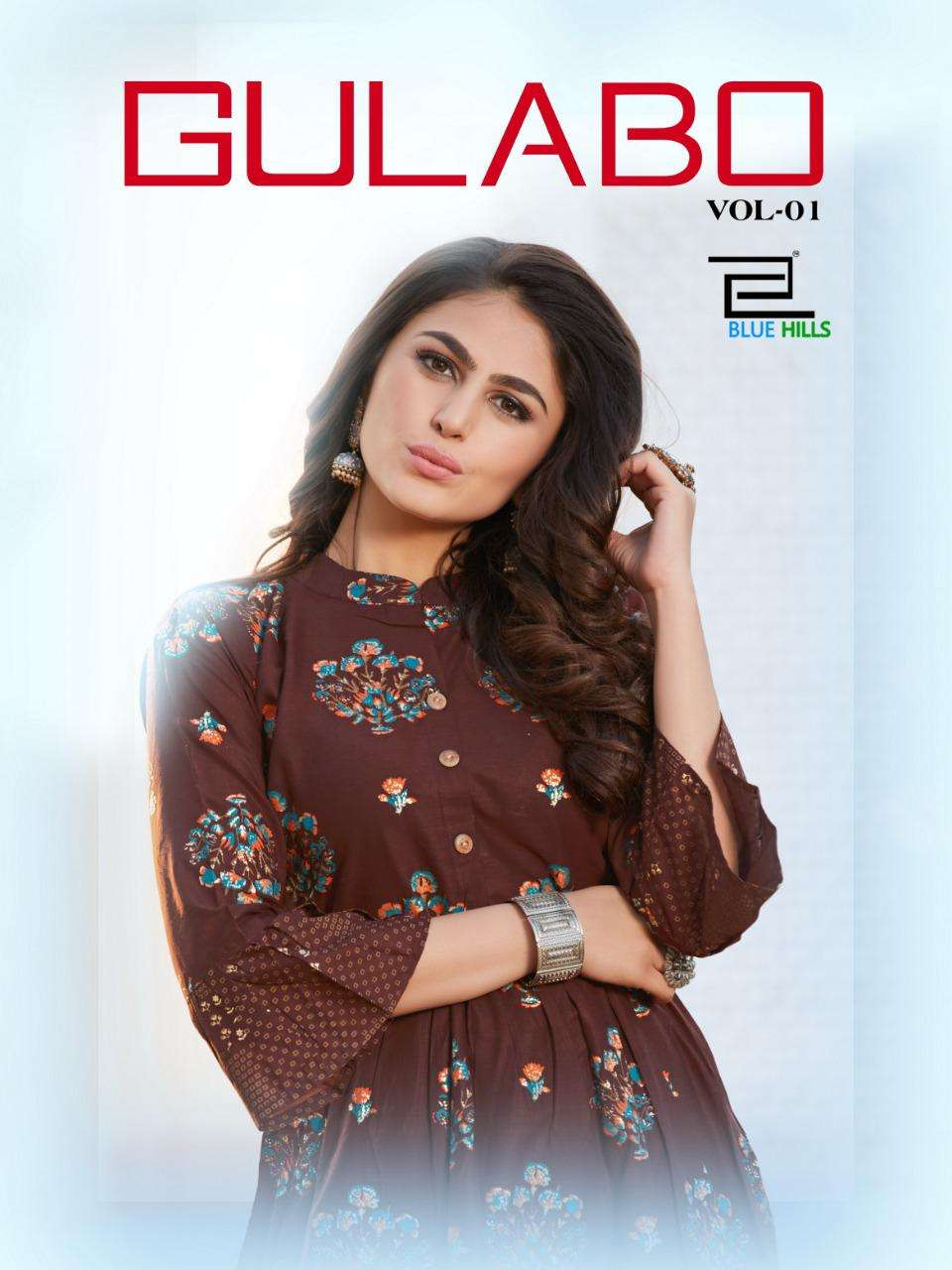 Blue Hills Gulabo Vol 1 by VF India Fancy Coton Kurti Gown catalog Supplier