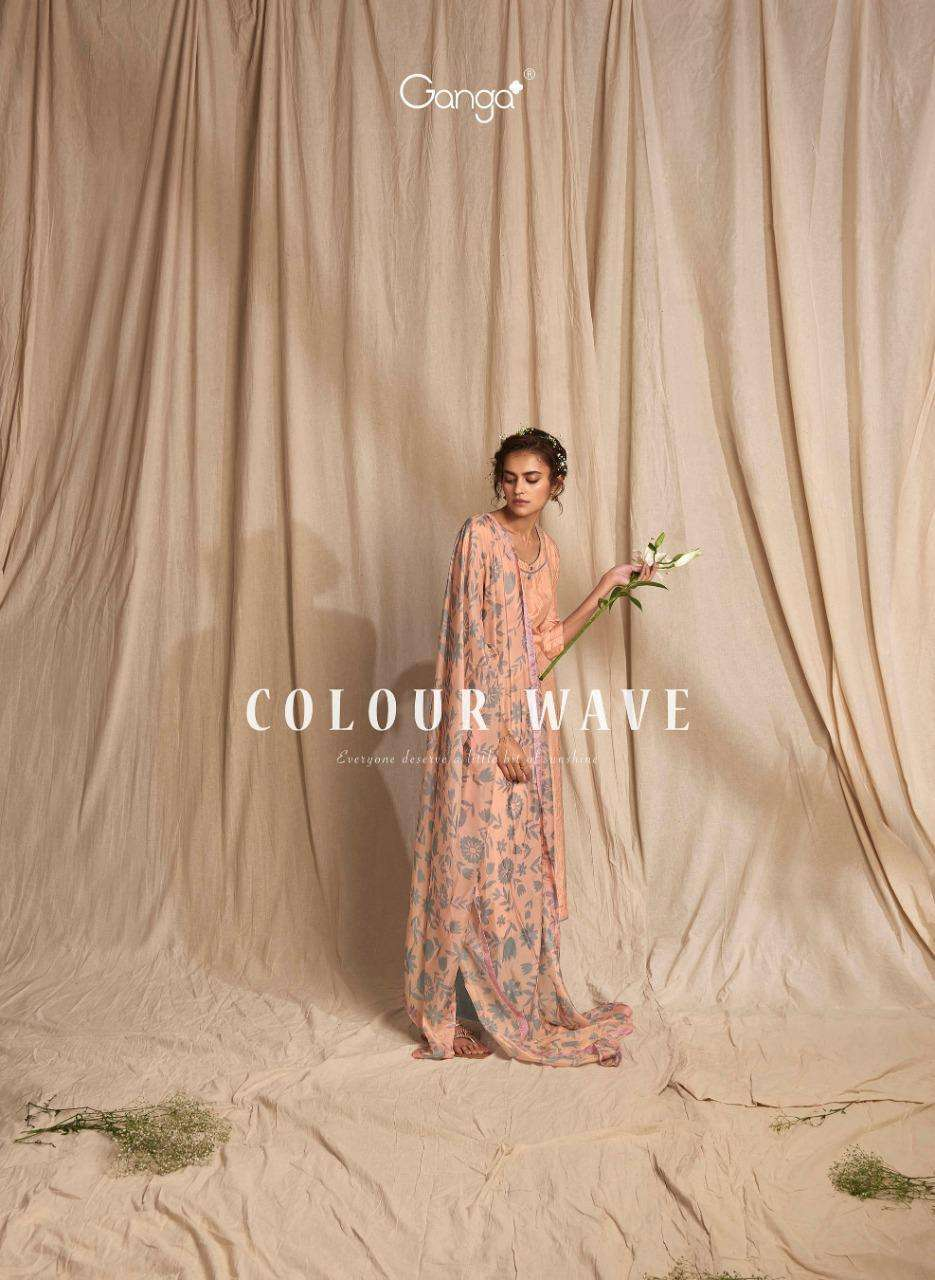 Ganga Colour Wave Bemberg Silk Fancy Suits Collection