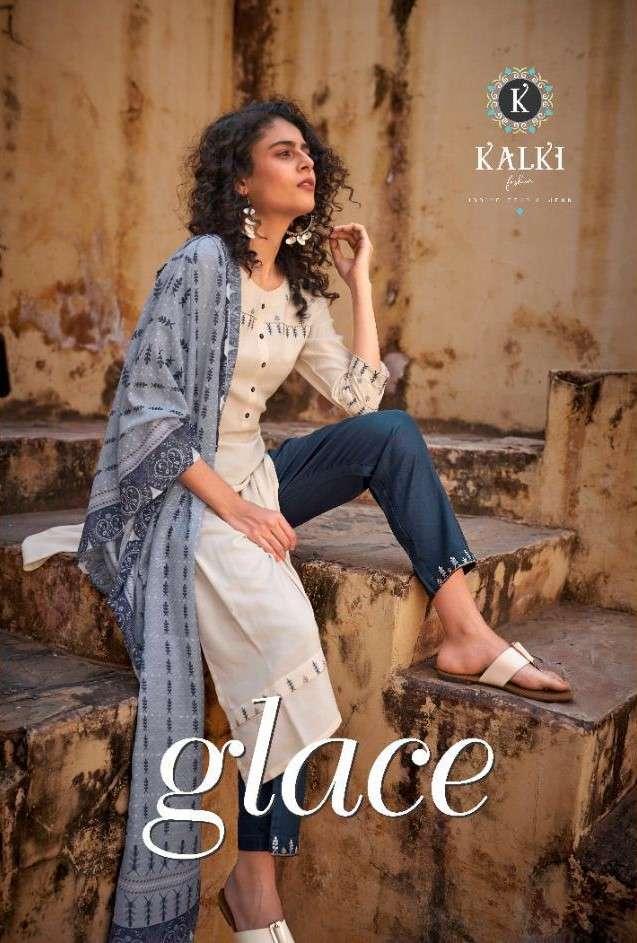 Kalki Fashion Glace Readymade 3 Piece Set new Catalog in Wholesale