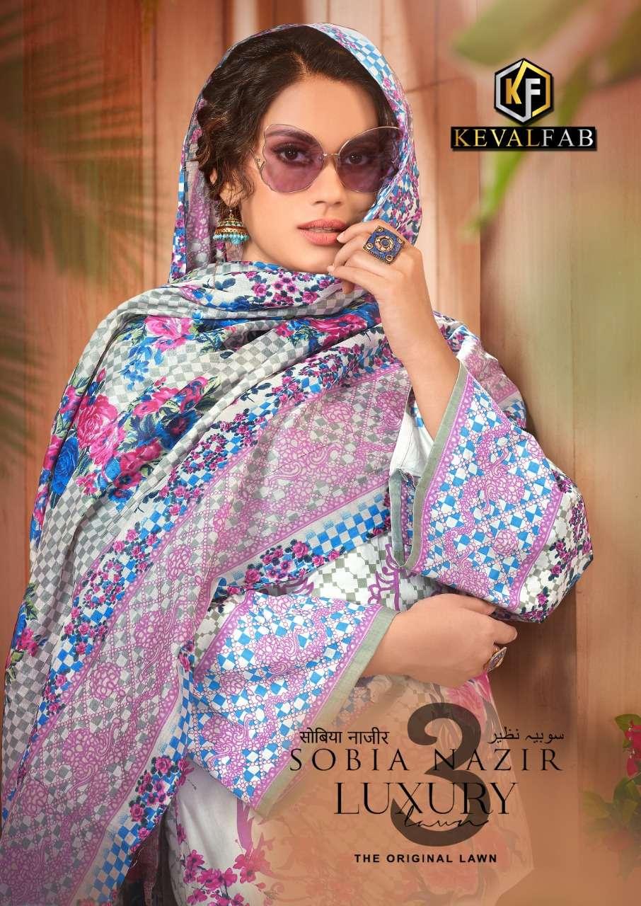 Keval Fab Sobia Nazir Luxury Vol 3 Printed Pakistani Suits