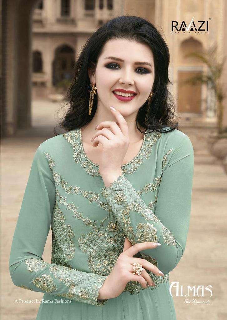 Rama Raazi Almas Designer Anarkali Salwar Suit Catalog Dealer