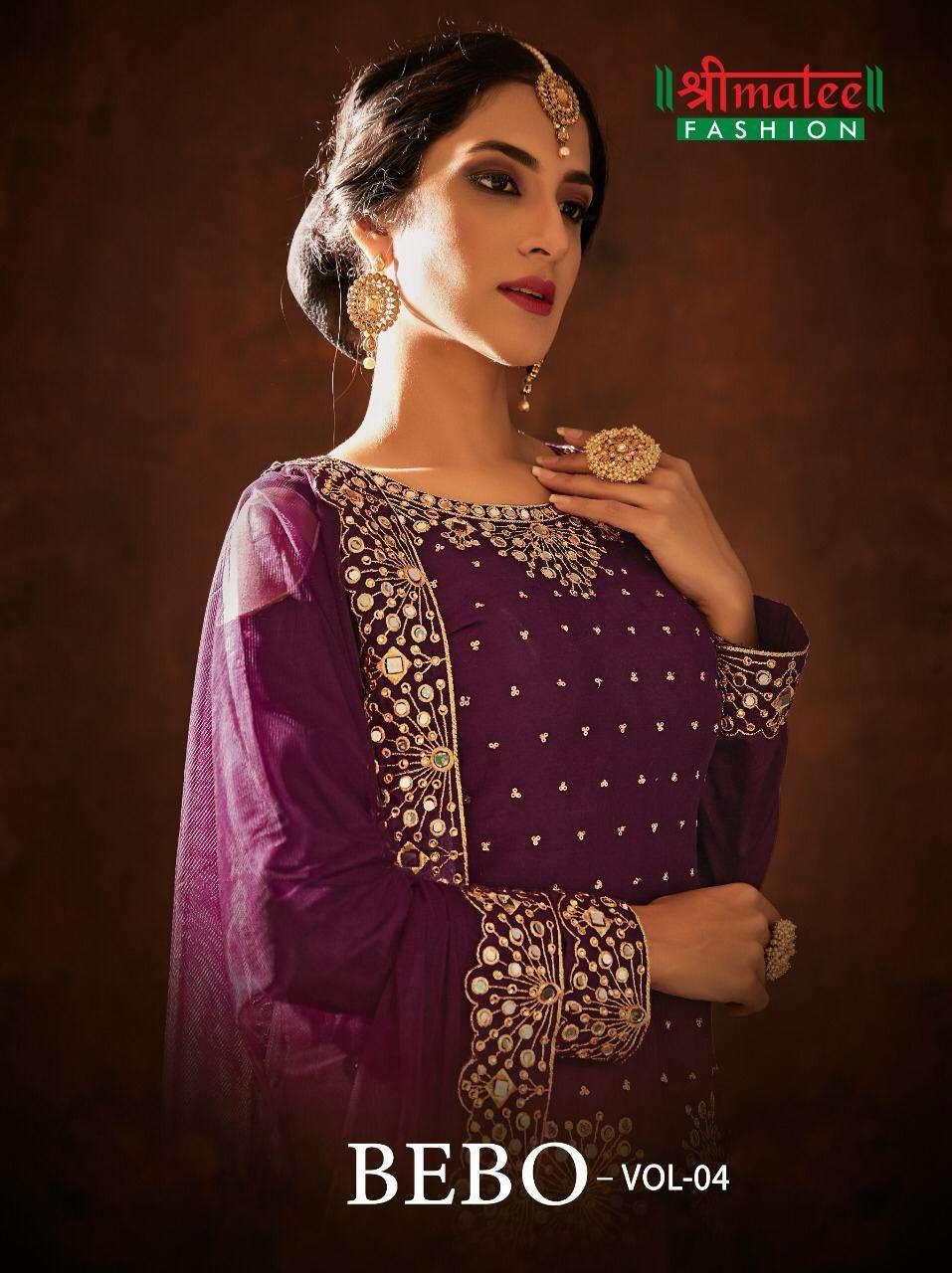Shreematee Bebo Vol 4 designer Work Patiala Suit Collection