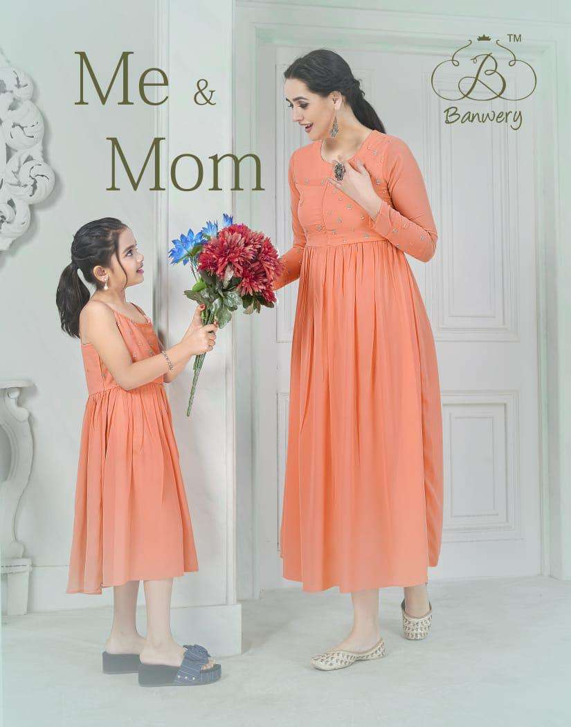 Banwery Me and Mom Designer Mom Daughter readymade Collection