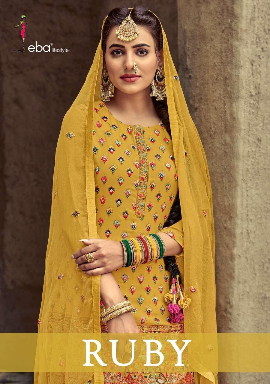 Eba Lifestyle Ruby Designer Patiala Suit Catalog Wholesaler