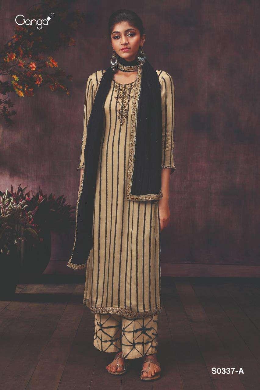 Ganga Demi 337 Silk Chiffon Fancy New Design Suits For Ladies
