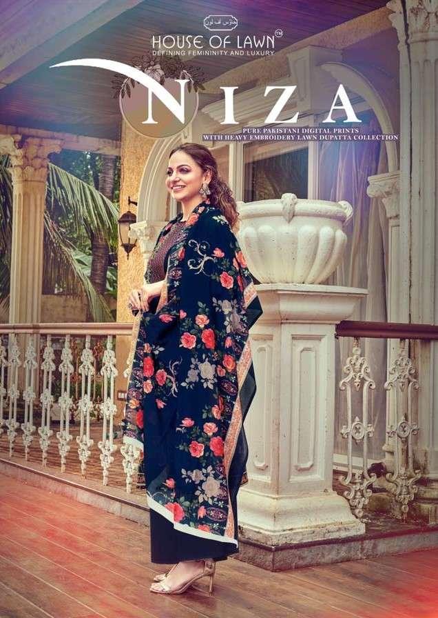 House Of Lawn Niza Cotton Karachi Suit Collection in Wholesale