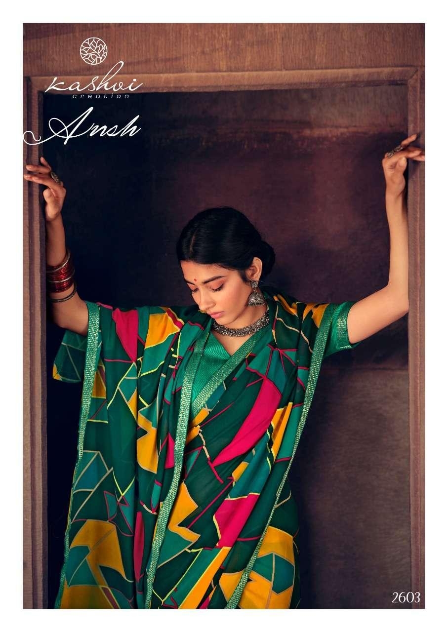 Kashvi Ansh Vol 2 Printed Indian Saree Catalog Supplier