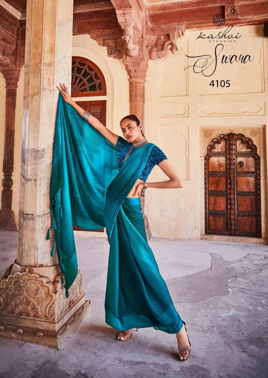 Kashvi Swara Exclusive Chiffon Print Saree New Collection in Wholesale
