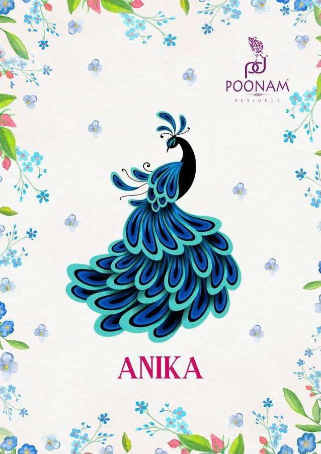 Poonam Anika fancy Cotton Kurti Gown With Dupatta New Collection