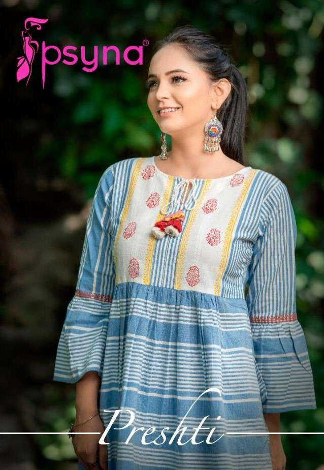 Psyna Preshti Fancy Cotton Short tops Catalog Dealer
