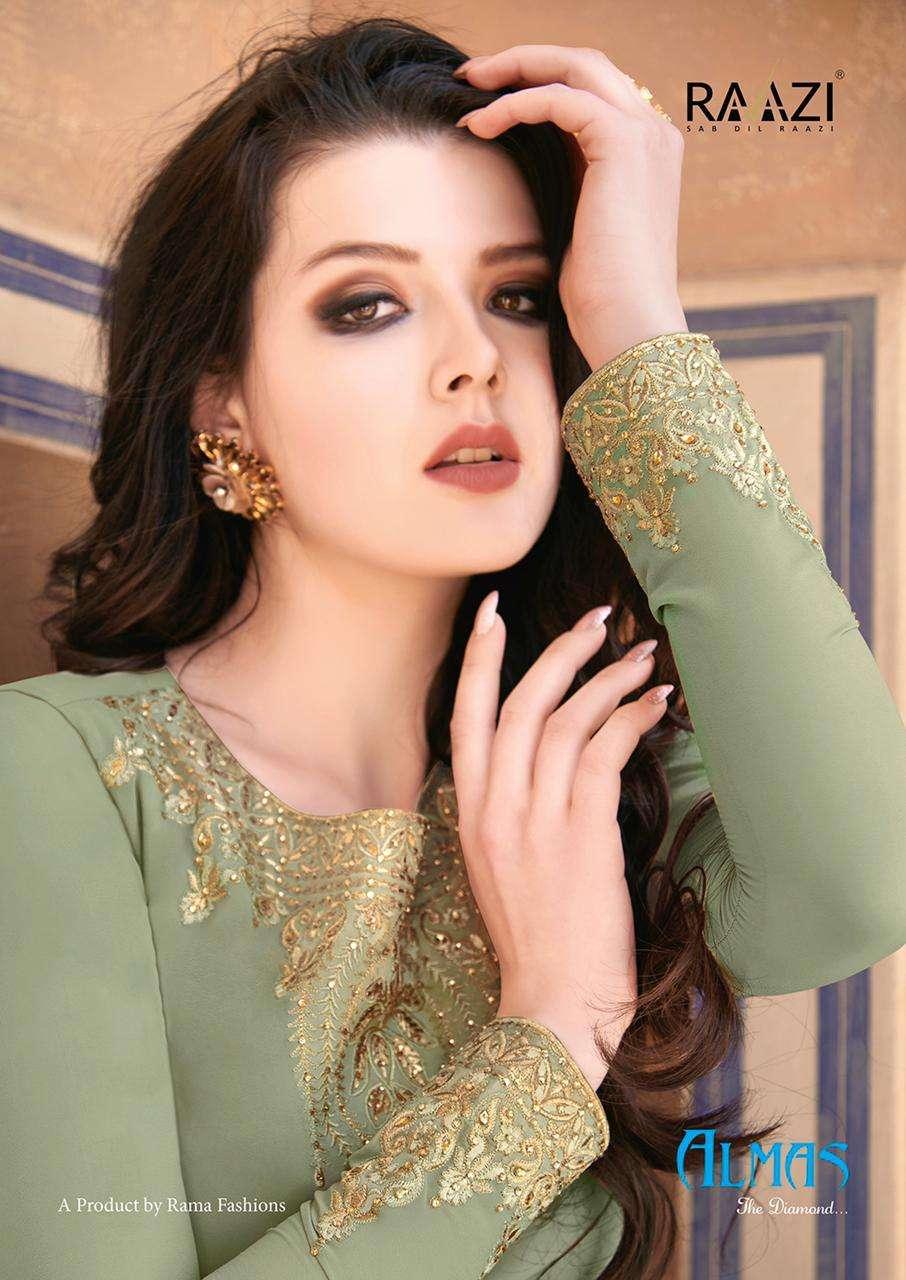 Rama Raazi Almas The Diamond Designer Anarkali Salwar Suit Catalog Supplier