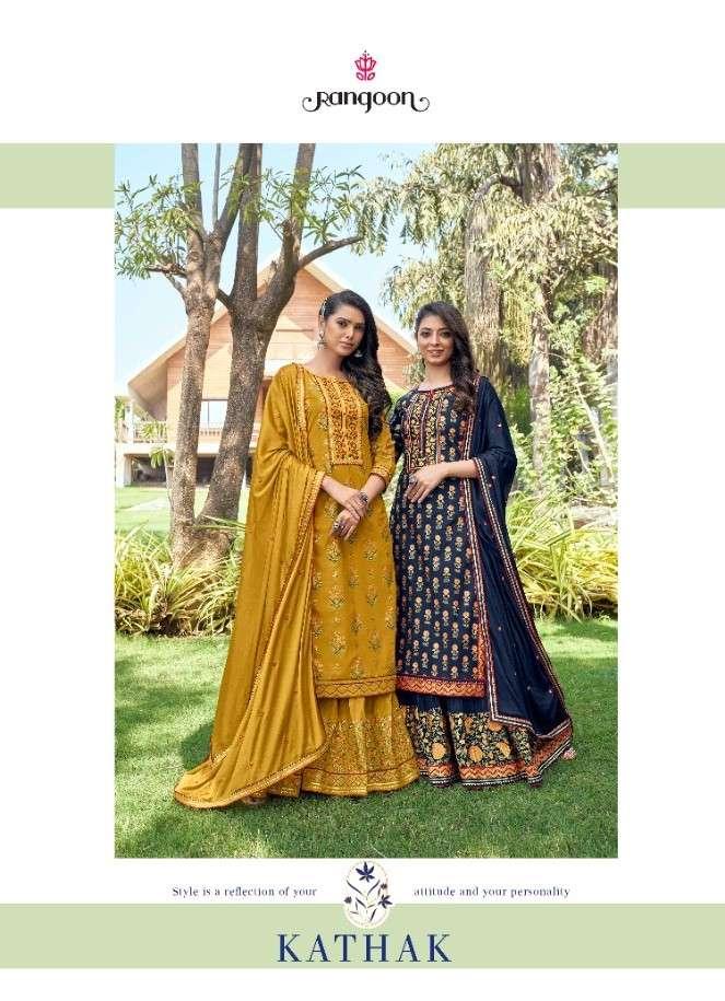 Rangoon Kathak Designer Lehenga Style Salwar Kameez Wholesale Price
