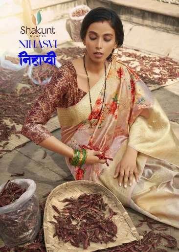 Shakunt Nihasvi Digital Print Silk Saree catalog Supplier in Surat