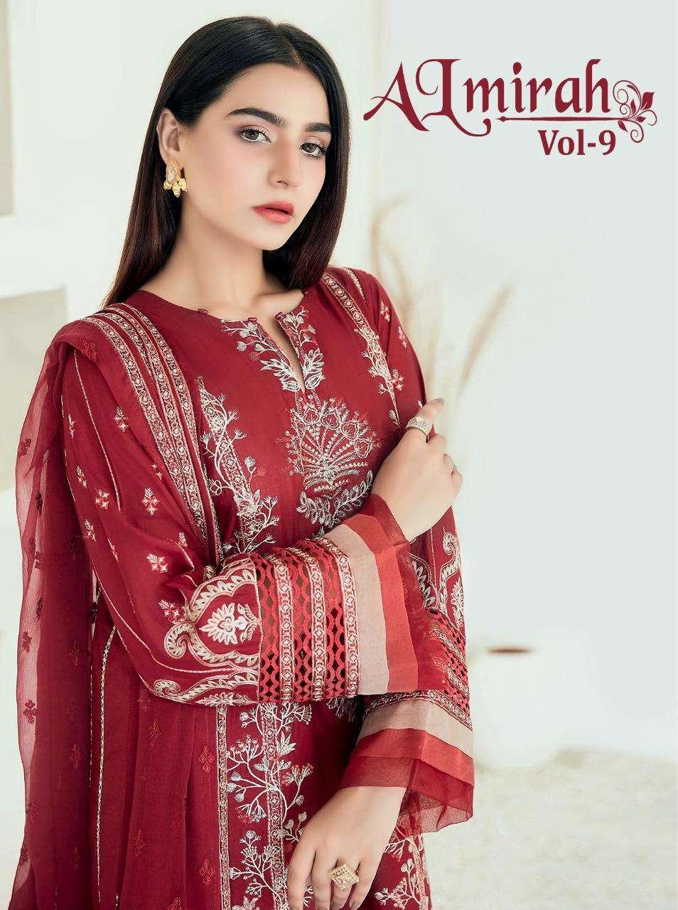 Shree Fabs Almirah Vol 9 Pakistani Suit Catalog Wholesaler