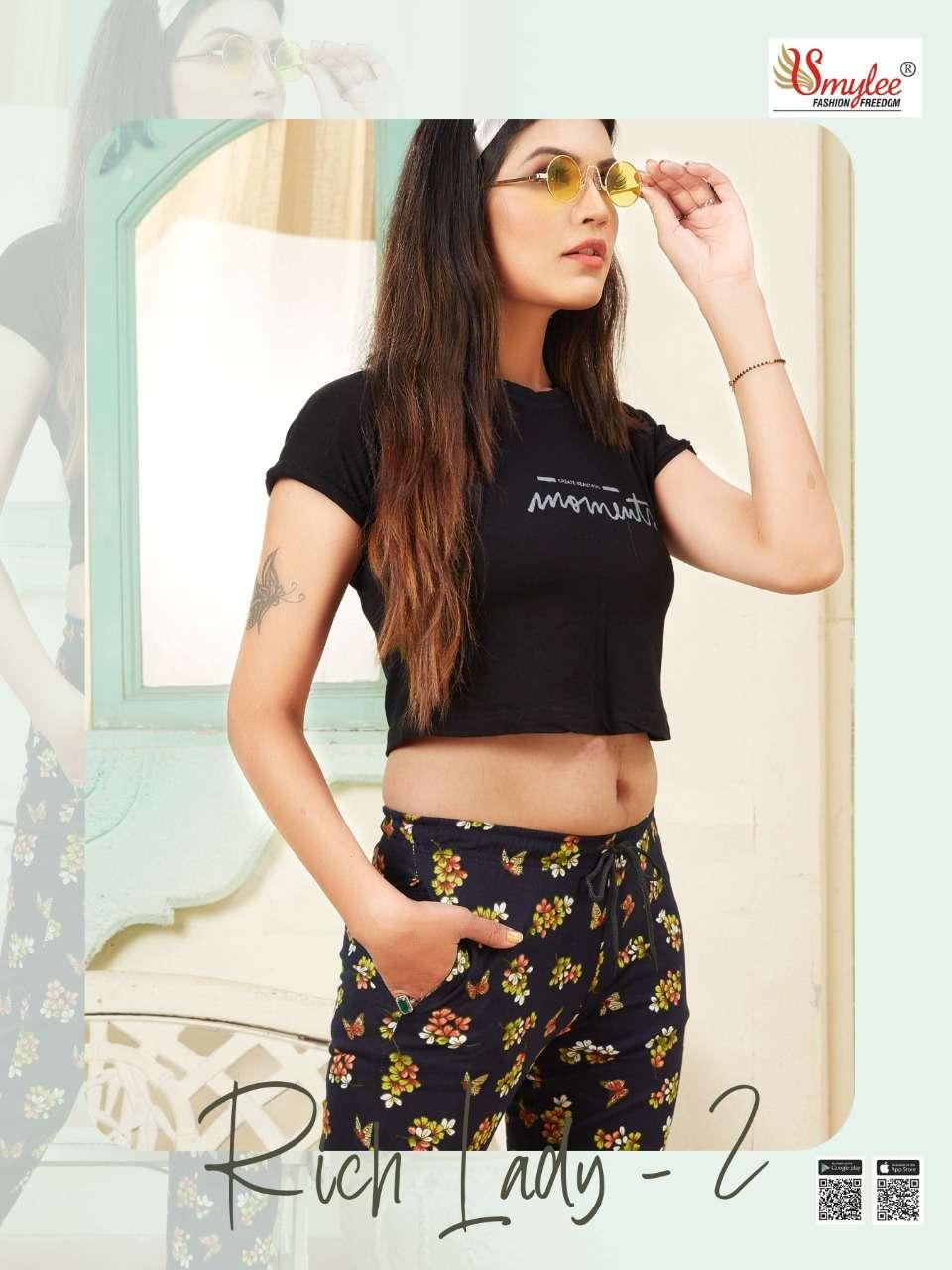 Smylee Rich Lady Vol2 By Rung Night Wear Pyjamas catalog Wholesaler