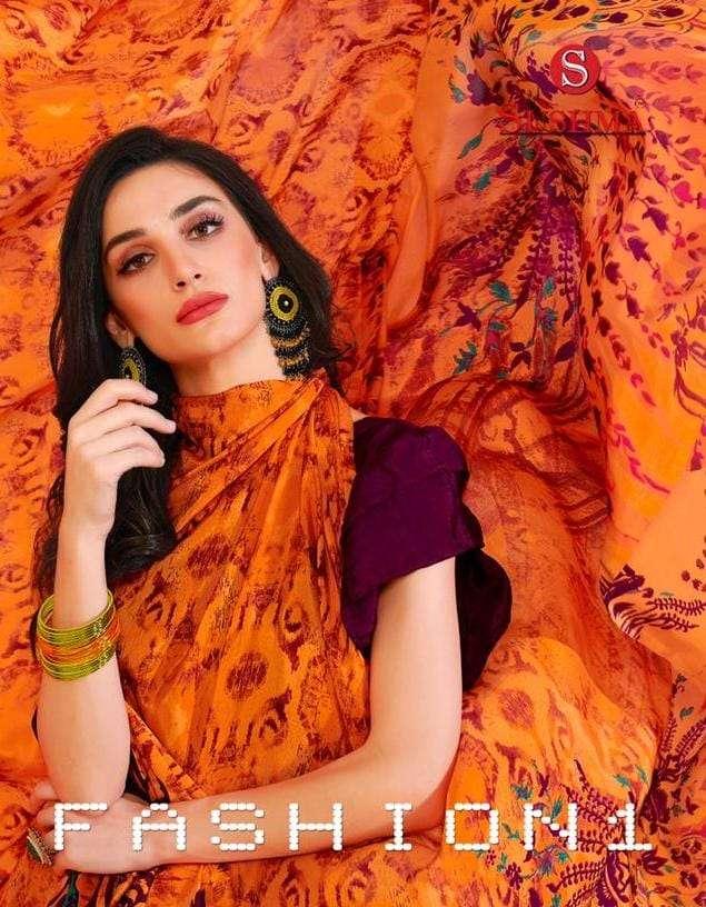 Sushma Fashion1 Printed crape Saree new Catalog Wholesaler