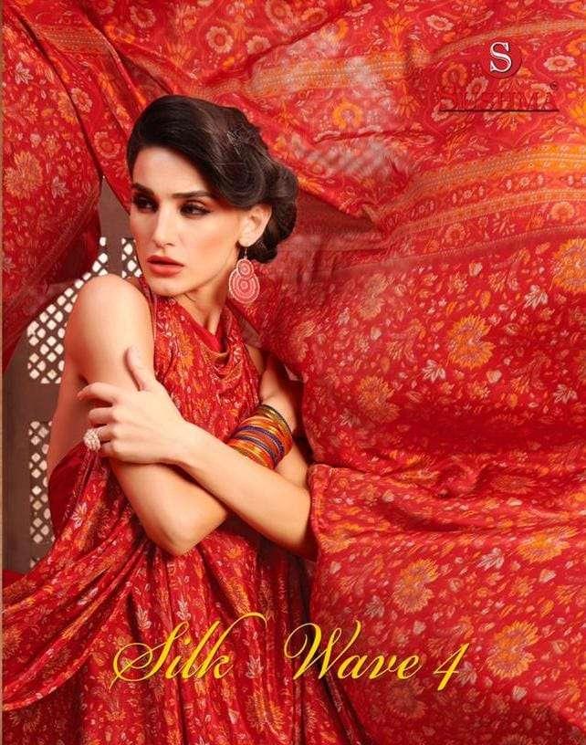 Sushma Silk Wave Vol 4 Printed Crape Saree Collection In Wholesale