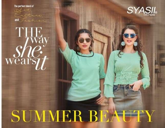 Syasii Summer beauty fancy Summer Wear Short top Catalog Wholesaler