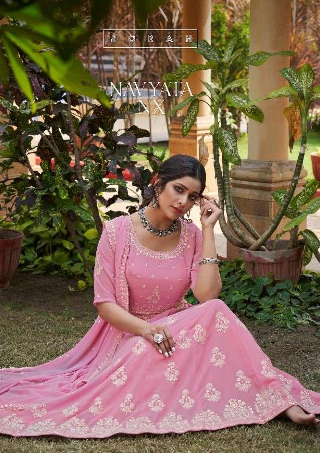 Tunic House Navyata NX Designer Readymade Lucknowi Work Anarkali Dress