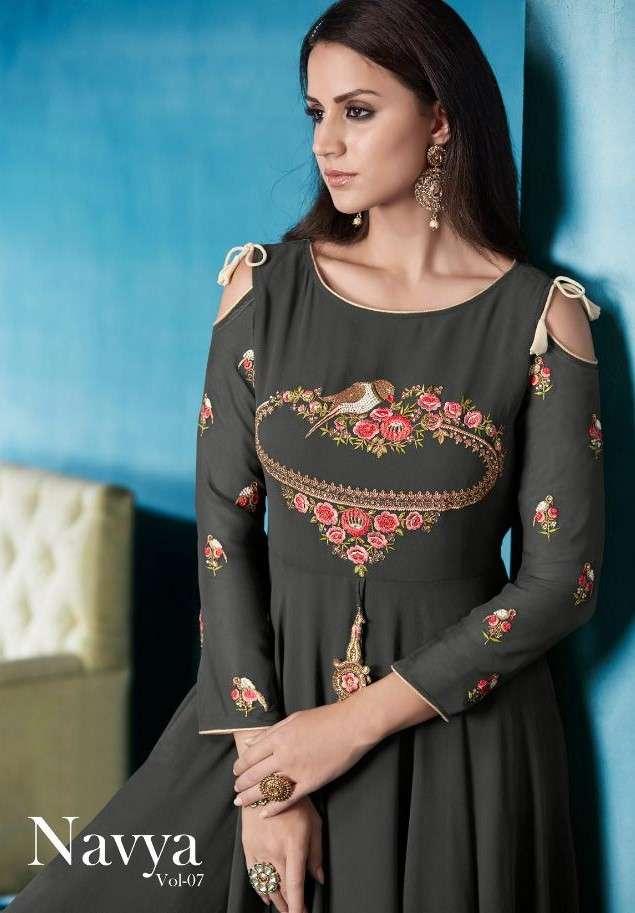 Vardan designer navya vol 7 dress catalogue from surat wholesaler