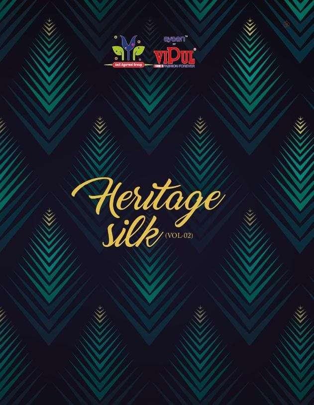 Vipul Heritage Silk Exclusive Printed Crepe Saree Catalog Wholesaler