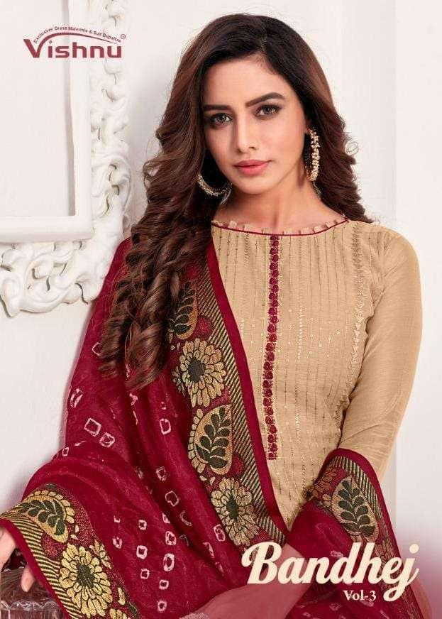 Vishnu Bandhej Vol 3 Modal Silk casual Suit Catalog Supplier