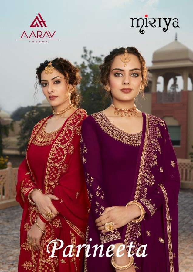 Aarav Trends Parineeta Party Wear Straight Suit Catalog Wholesale price