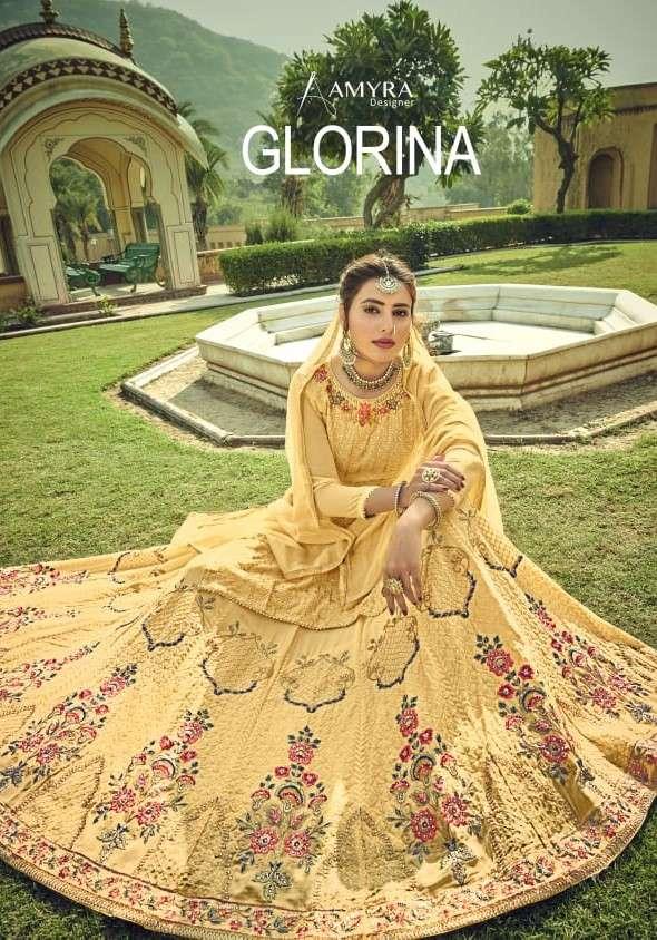 Amyra Designer Glorina Designer Work Lehenga Style Dress Collection