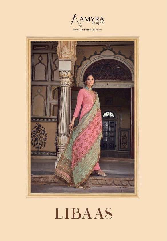 Amyra Designer Libaas Party Wear Heavy Dupatta Salwar Kameez Catalog Wholesaler