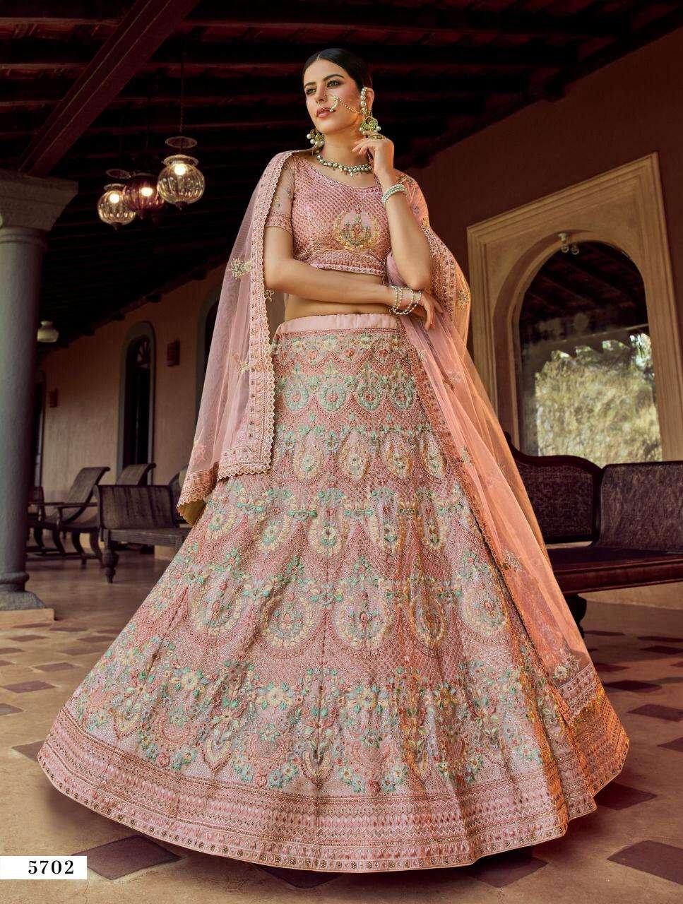 Arya Designs Vastry Vol 3 5701 to 5708 Series Heavy Work Bridal Lehenga Collection