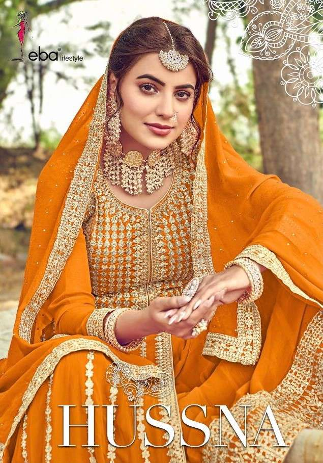 Eba Lifestyle Hussna Designer Heavy Work Salwar kameez Wholesale Dealer in Surat