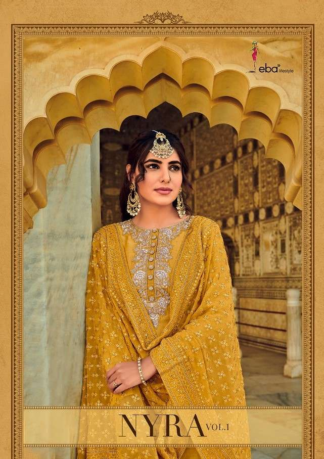 Eba Lifestyle Nyra Vol 1 Party Wear Salwar Kameez Catalog Wholesale price In Surat