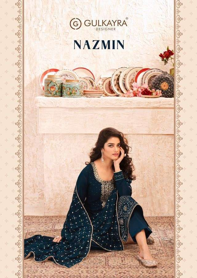 Gulkayra Nazmin Straight Suit party Wear Collection at Best Rate