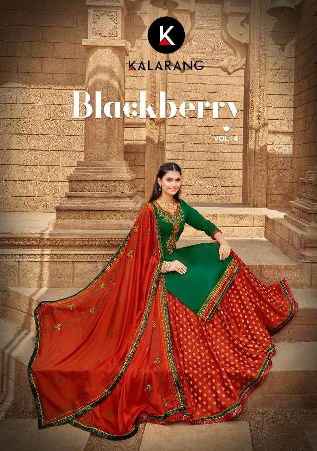 Kalarang Black Berry Vol 4 Fancy Lehenga Style Salwar kameez Catalog Supplier