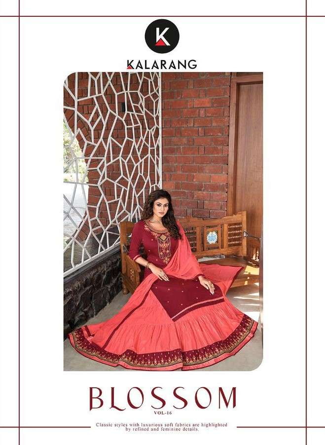 Kalarang Blossom Vol 16 Fancy Lehenga Style Salwar Suit New Collection in Wholesale Price