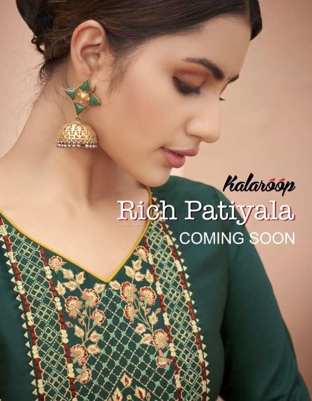 Kalaroop Rich patiyala By kajree Readymade Patiyala Suit Catalog Wholesale Price