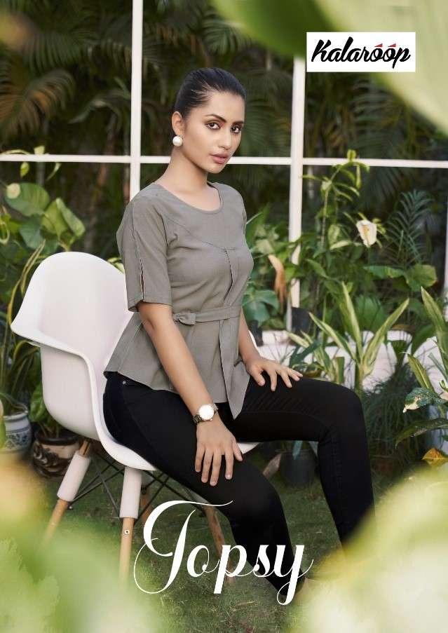 Kalaroop Topsy By Kajree Georgette Shor Tops Catalog Supplier