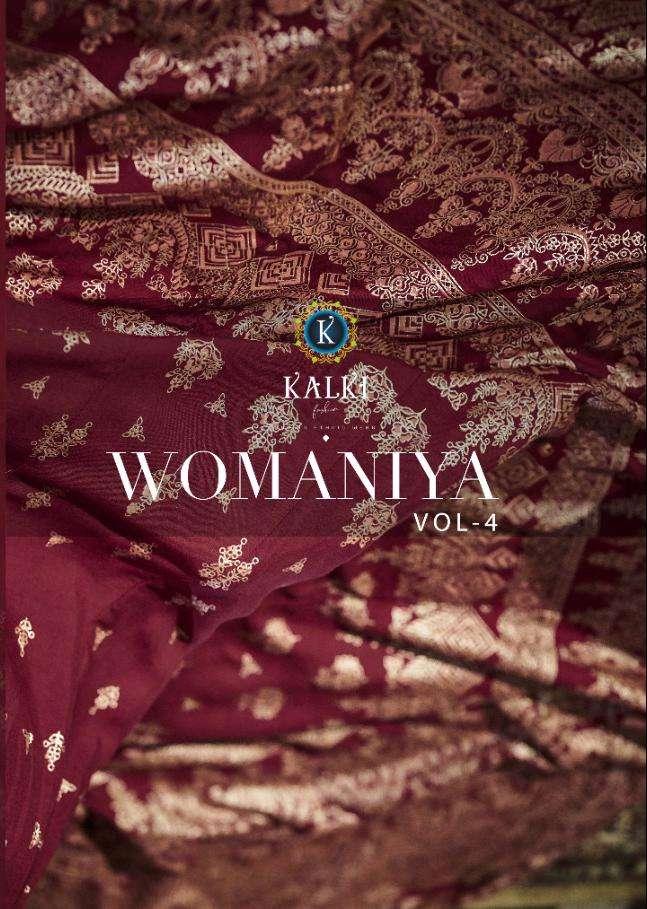 Kalki Fashion Womaniya Vol 4 Rayon Gold Print Glamorous Readymade Gown Collection
