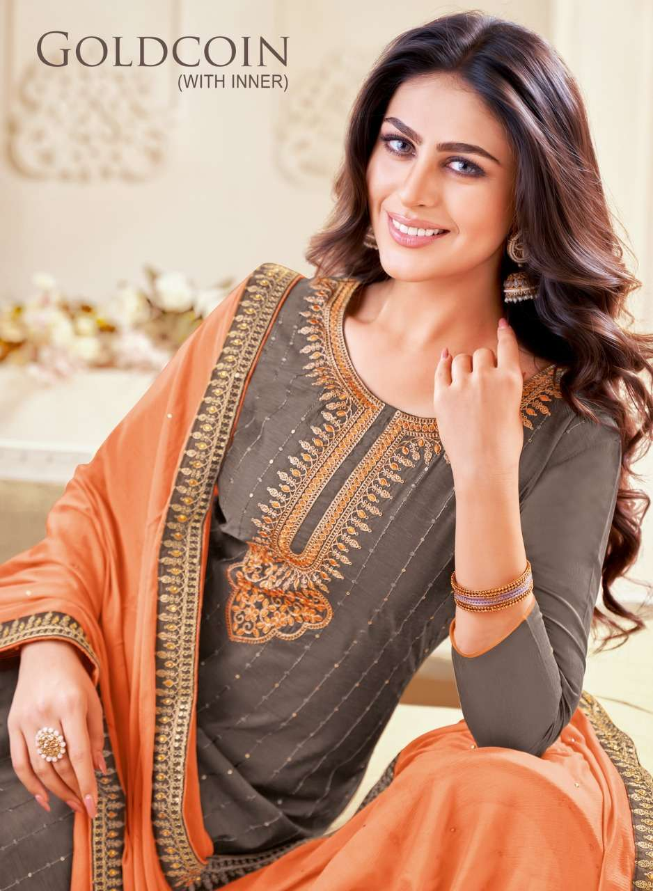 Kapil Tex Goldcoin Fancy Casual Dress material New Collection